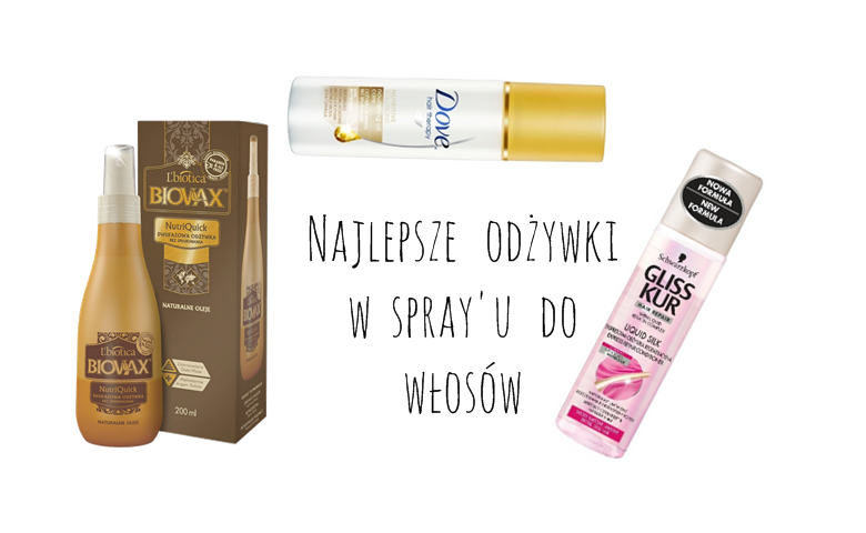 odżywki w sprayu do włosów