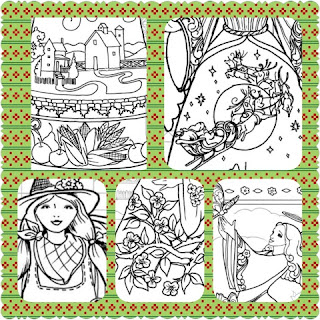 jim shore angel coloring book collage