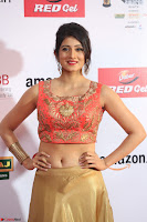 Harshika Ponnacha in orange blouuse brown skirt at Mirchi Music Awards South 2017 ~  Exclusive Celebrities Galleries 033.JPG