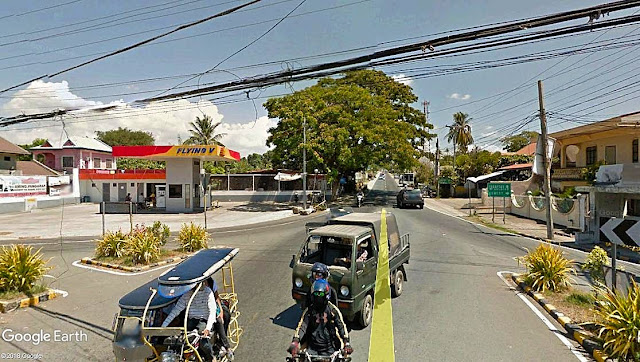 The present-day Diokno Highway leading to Batulao.  Image source:  Google Earth Street View.