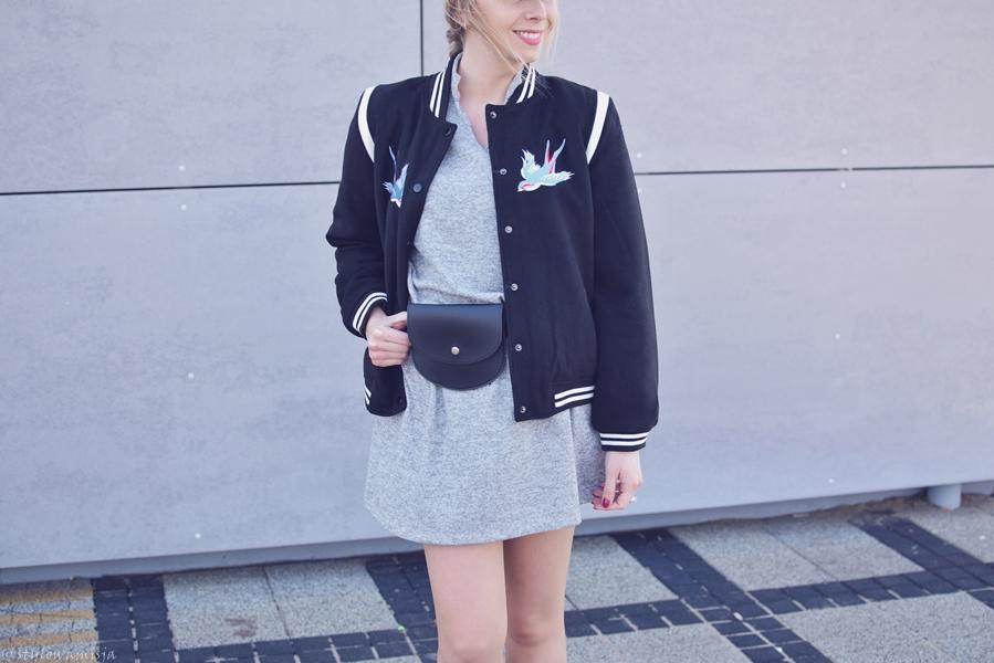 bomberjacket, botki, czapka, czasnabuty.pl, moda, pantofelek24, ptaki, street, sukienka, skóra,