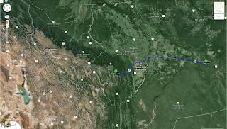 Trajeto detalhado de San José de Chiquitos/Bolívia a Samaipata/Bolívia - 395 km.
