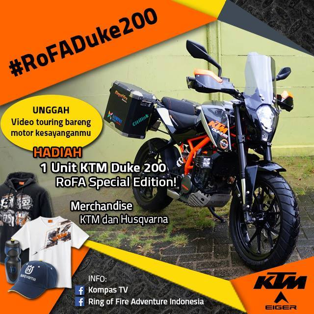 Kontes Video Touring Berhadiah Motor KTM Duke 200 RoFA Special Edition