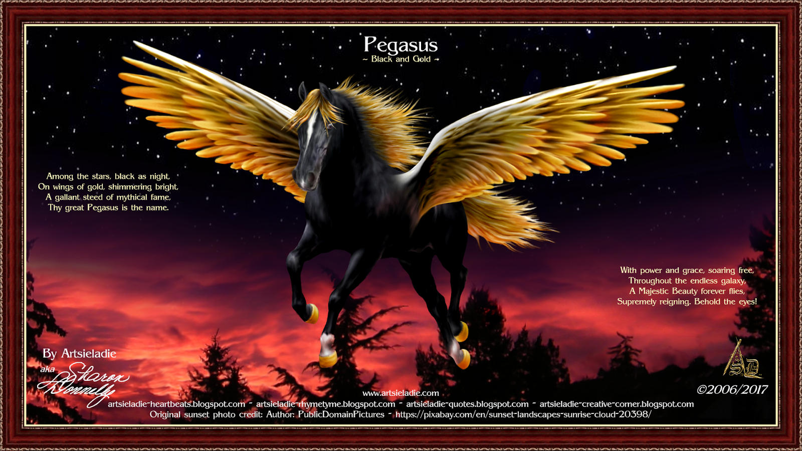 Majestic Beauty Pegasus by/copyrighted Artsieladie/Sharon Donnelly
