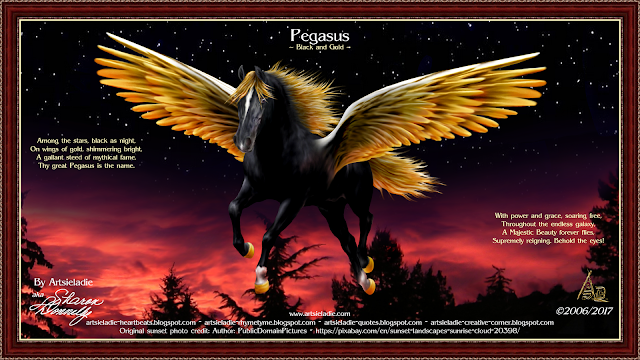 Pegasus art by Artsieladie, copyrighted