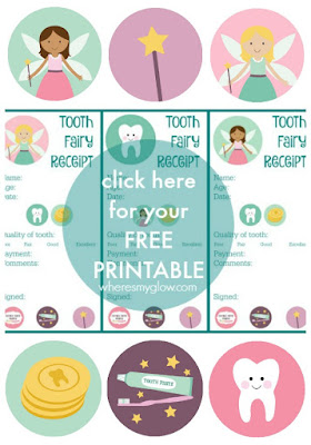 picture about Free Printable Tooth Fairy Receipt known as Wheres My Shine? : Brain the hole (teeth smile) - with free of charge