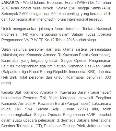 TNI Siaga, Delegasi Dari 100 lebih Negara Akan Padati Jakarta Besok - Commando