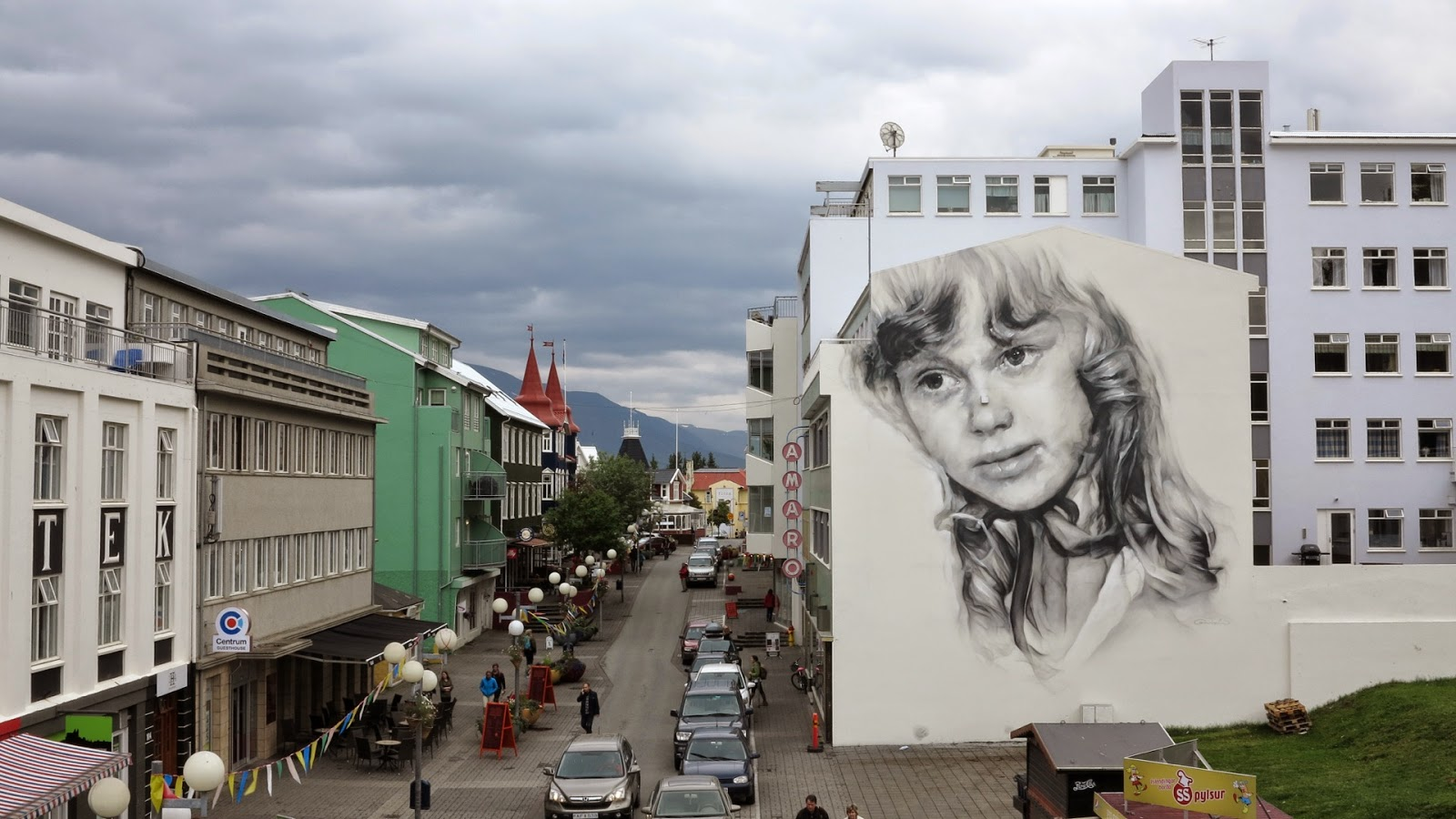 After a few days of work, Guido Van Helten just wrapped up this new piece for the Akureyrarvaka culture festival 2014 on the streets of Akureyri in Iceland.