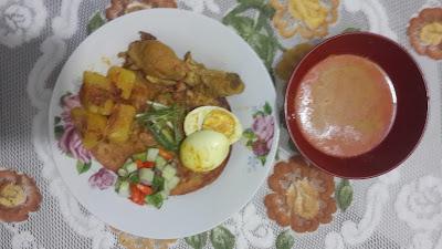 Cane Kari Ayam plus Telur Rieska Catering
