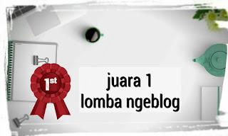 Juara 1 lomba blog