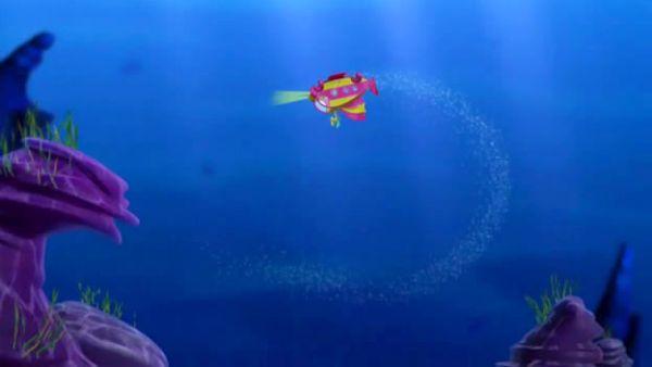 We did an underwater loop-de-loop!
