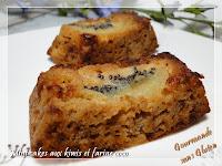 Mini-cakes aux kiwis à la farine de coco, sans gluten régime IG BAS