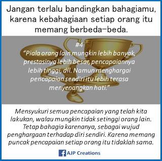 Kata-Kata Bijak Jangan Terlalu Bandingkan Kebahagiaanmu Dengan Kebahagiaan Orang Lain. #
