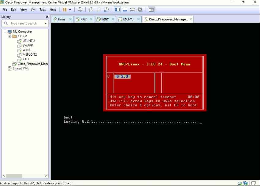 My Cybersecurity Journal: Installing Cisco Virtual FMC 6 2 3 in