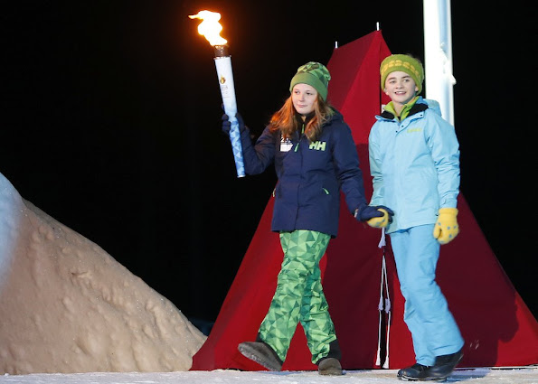 Crown Princess Mette Marit and Crown Prince Haakon of Norway and Princess Ingrid Alexandra and Prince Sverre Magnus attended the opening of the Lillehammer 2016 Youth Olympic Games