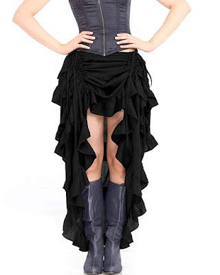Steampunk victorian gothic showgirl skirt