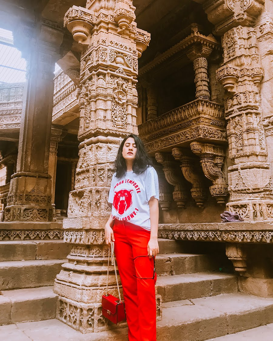 casual outfit, zara chain red bag, indianfashion blogger
