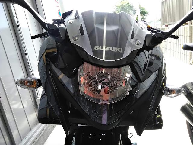 GSX250R 光軸調整の写真