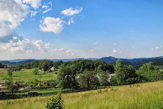 Panorama z podejścia na Bukową.