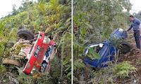 Tak sampai lebih satu jam, Dua Mobil Masuk Kejurang di Kapuas Hulu