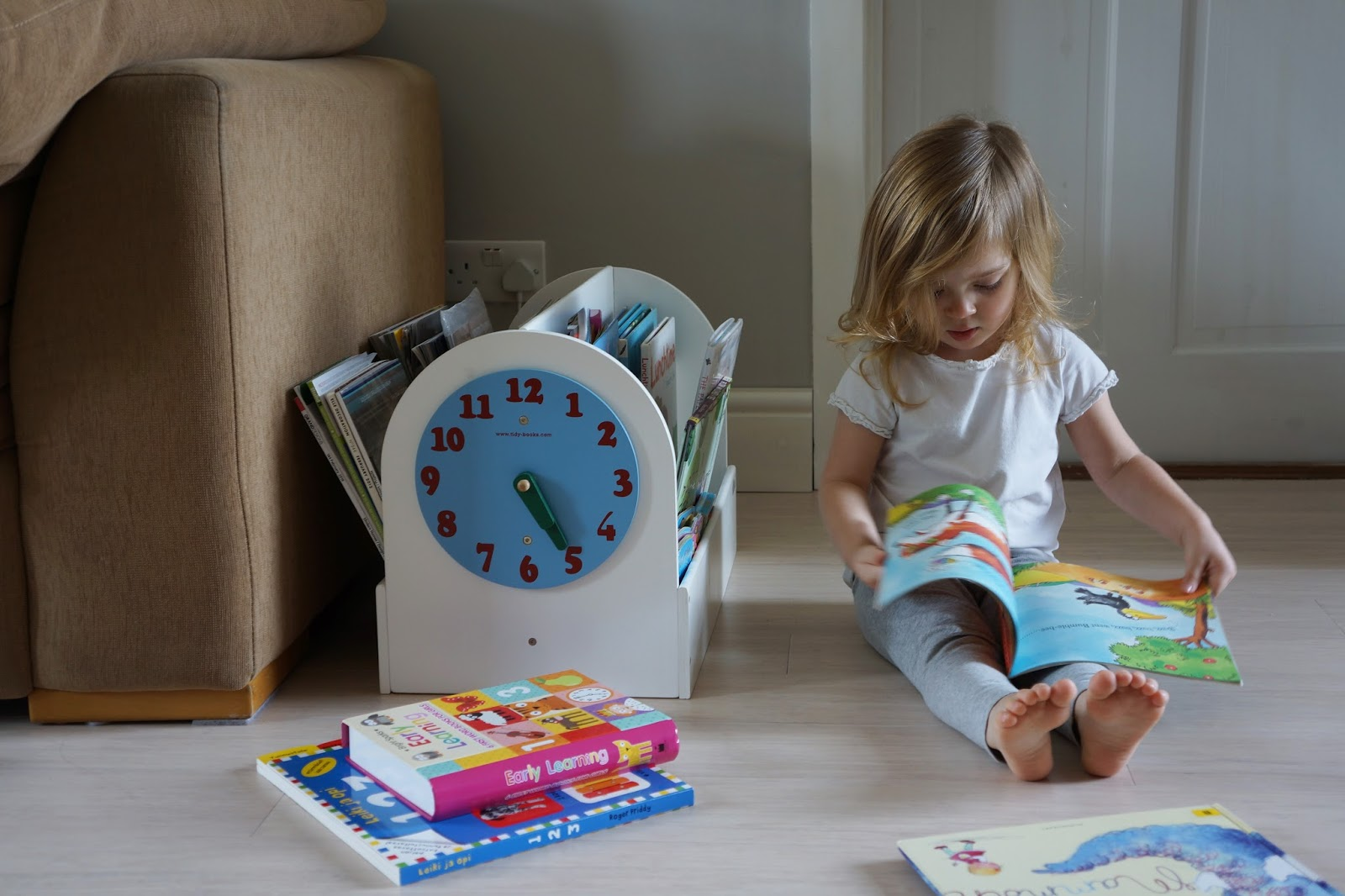 clever book storage solution for children