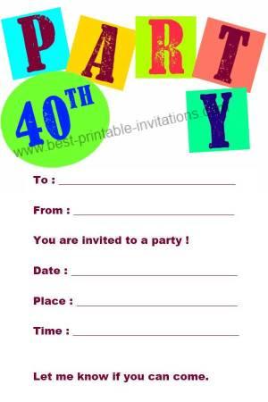 żółty Balonik 40 Urodziny Zaproszenia