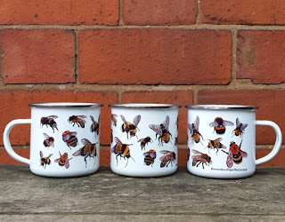 Enamel Mug with Bees by Alice Draws The Line
