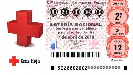 Decimos del sorteo de loteria nacional cruz roja sabado 7 abril 2018
