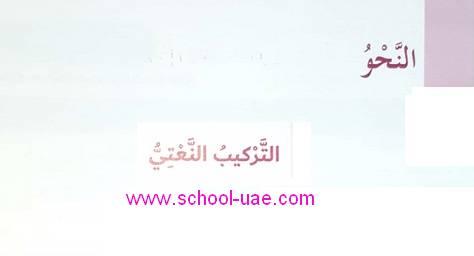 حل درس التركيب النعتى مادة اللغة العربية للصف السادس الفصل الثانى 2020 الامارات