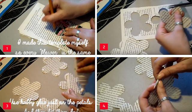 Cara Membuat Bunga dari Koran Bekas