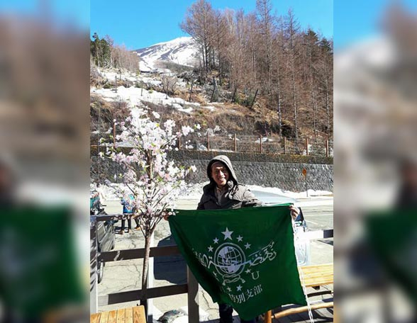 Subhanallah, Syair Ya Lal Wathan Menggema di Gunung Fujiyama Jepang