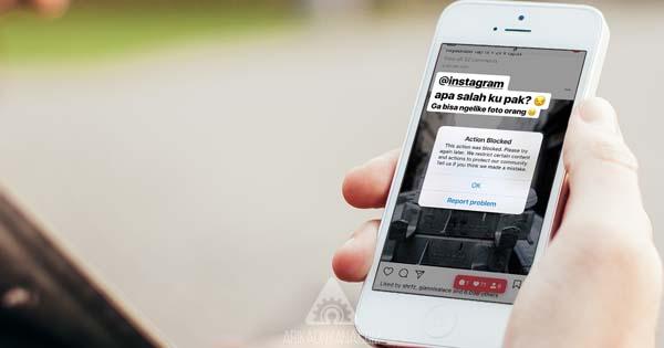 3 Cara Mengatasi Tidak Bisa Like, Comment dan Follow Pada Instagram