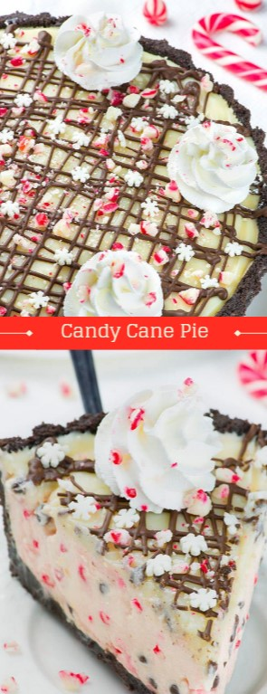 Candy Cane Pie #christmas #dessert