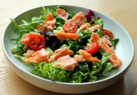 Hot Smoked Salmon Salad