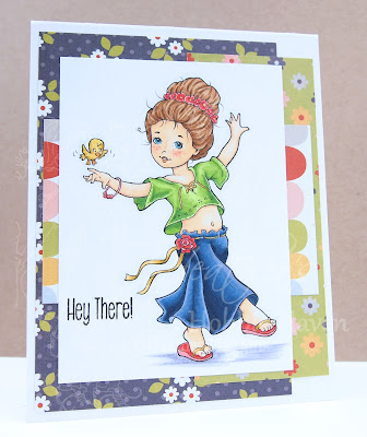 Heather's Hobbie Haven - Just for Fun Saturday Card - Spring Enchantment