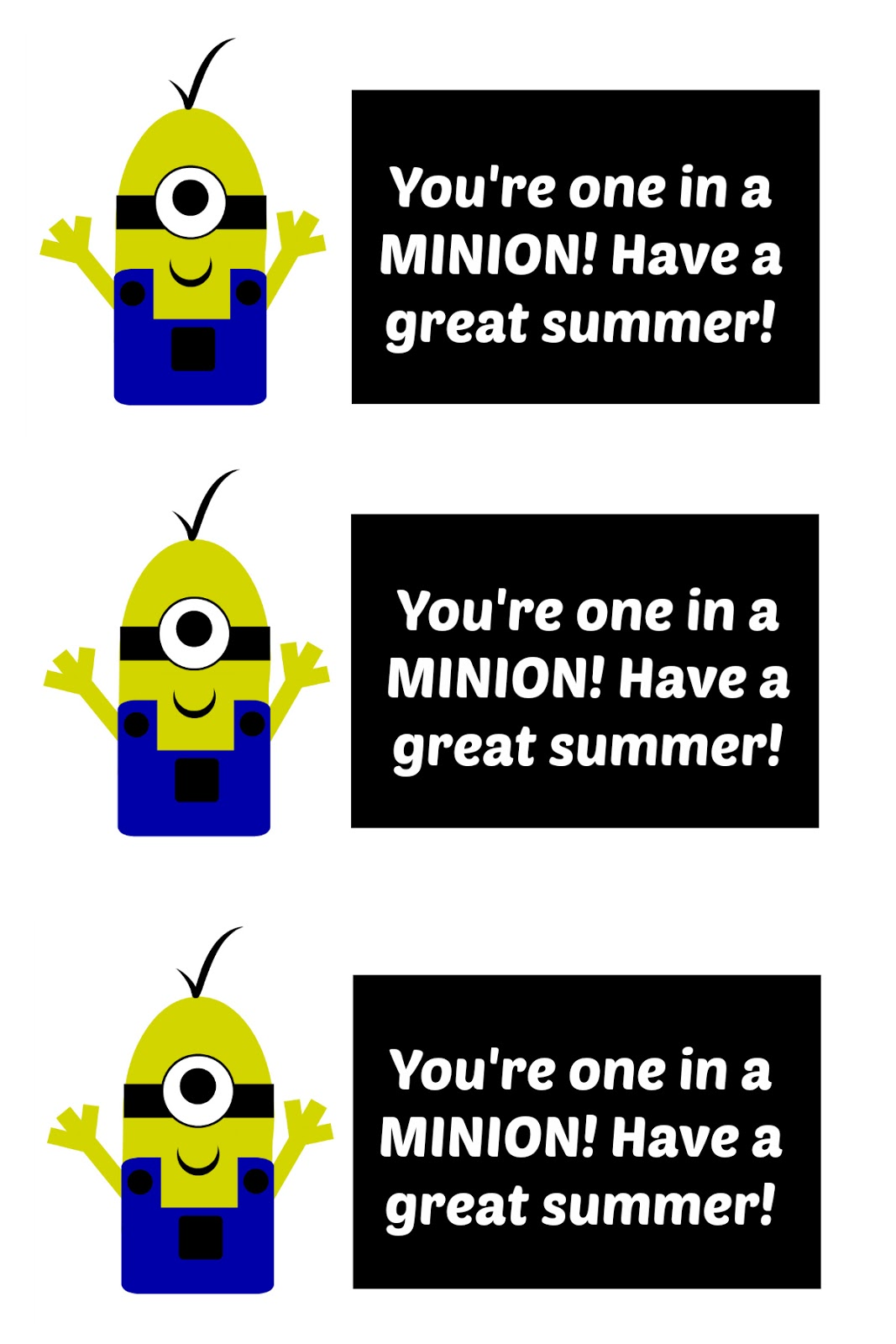 photograph regarding You Re One in a Minion Printable called East Coastline Mommy: Cl Snacks Minion Cookies with no cost