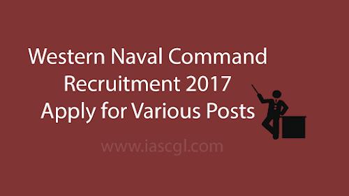 Western Naval Command Recruitment 2017