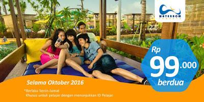 Promo Pelajar Hanya 99.000 Berdua di Waterboom Jakarta