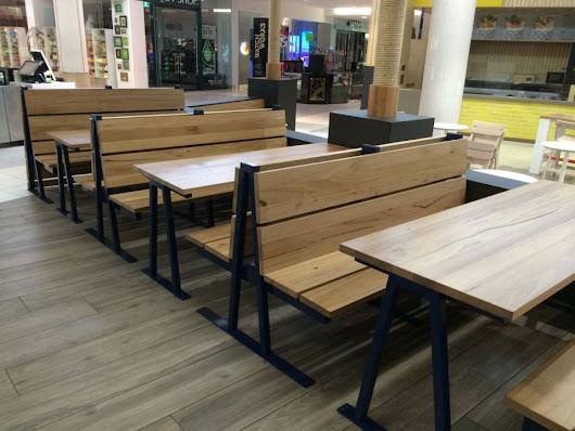 A Modern Way to Decorate The Food Area With Trendy Food Court Furniture