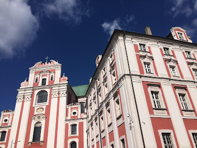 Pink monastery in Poznan, Poland