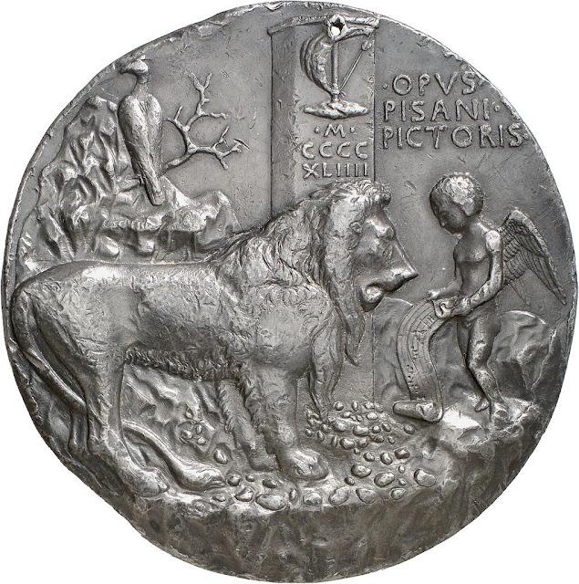medallón de Pisanello para Leonelo de Este