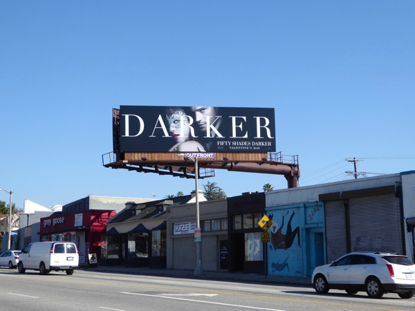 Fifty Shades Darker film billboard