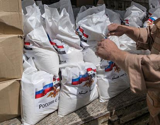 Residents of the Al-Mahnaya village have received canned fish and meat, flour and cereals