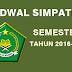 Info Jadwal Simpatika Semester 2 Tahun Pelajaran 2017-2017