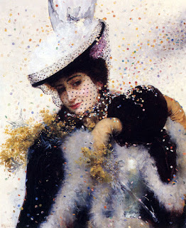 Французский художник Рихтер Эдуард Фредерик Вильгельм Edouard Frederic Wilhelm Richter (1844-1913)