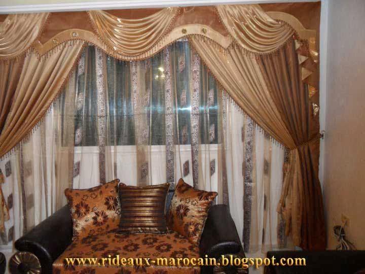 rideaux marocain rideaux occultants marron. Black Bedroom Furniture Sets. Home Design Ideas