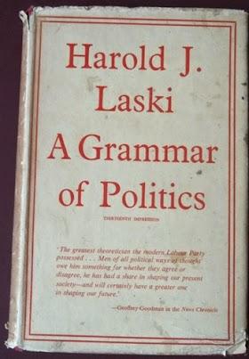 "Horald.j Laski "" A grammar of Politics""  672 halaman tahun 1957. minat 0858 6623 0123"