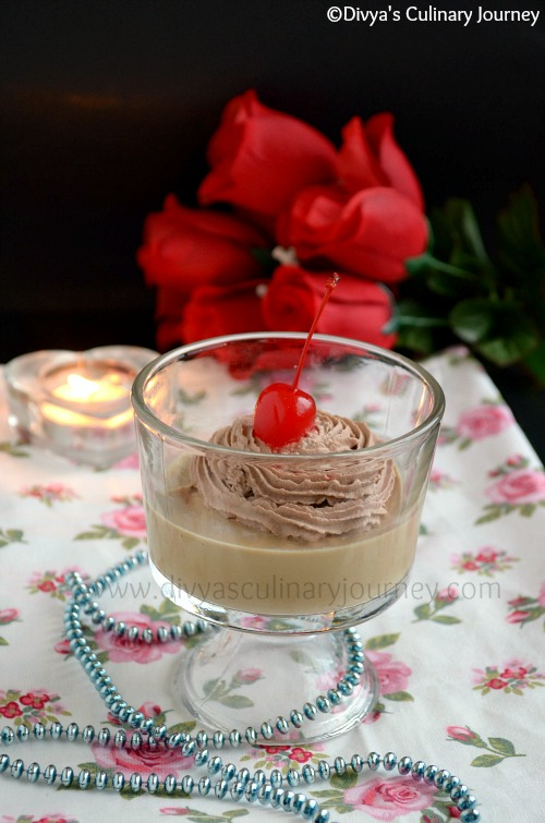 Panna cotta with rich coffee flavor
