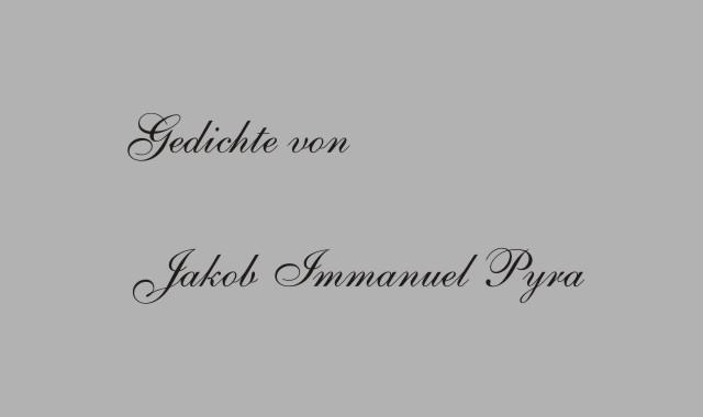 Jakob Immanuel Pyra