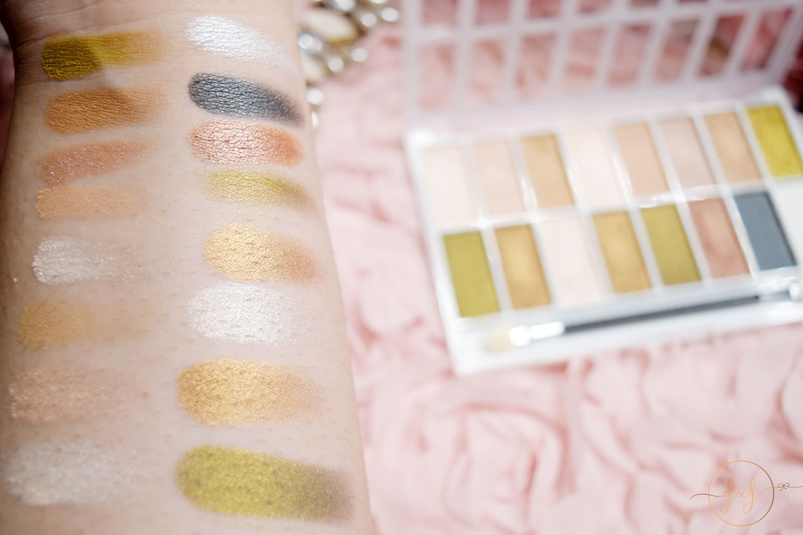 La Colors 16 Color Eyeshadow Palette In Sweet Review Swatches